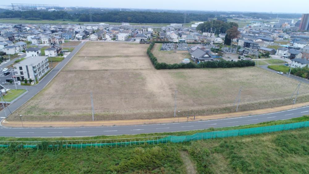 島名公園整備工事 着工前の進捗様子