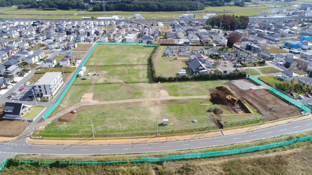 島名公園整備工事 2018年10月の進捗様子