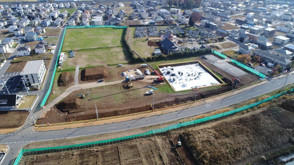 島名公園整備工事 2018年11月の進捗様子