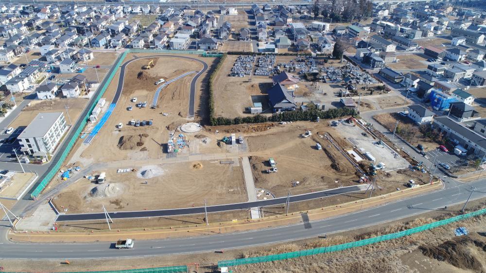 島名公園整備工事 2019年1月の進捗様子