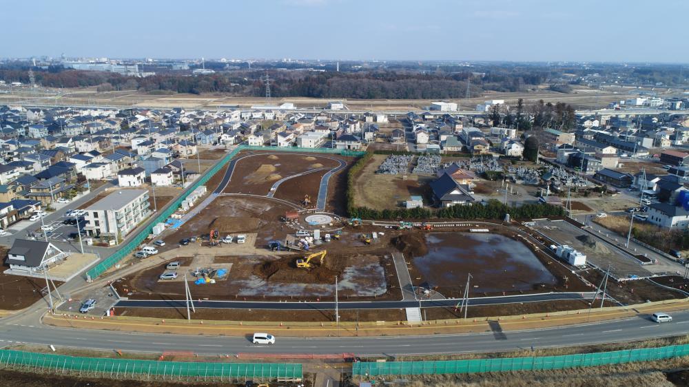 島名公園整備工事 2019年2月の進捗様子